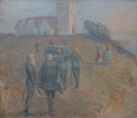 Hugo Larsen: The burial of the Earl of Bothwell. Photo taken based on the guide to the left.